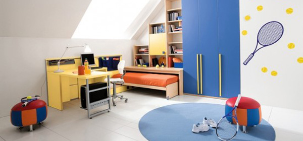 Image of a cool boys bedroom