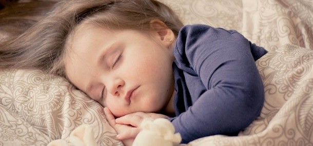 Image of a young girl sleeping