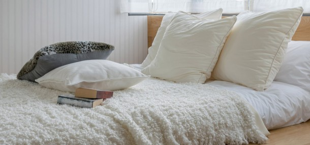 Image of a bed very low to the floor