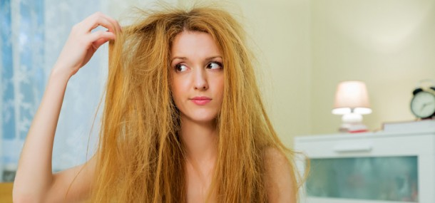 Image of a girl with very bad bed hair