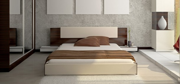 Image of a low style bed frame