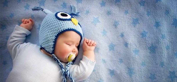 Image of a cute baby fast asleep